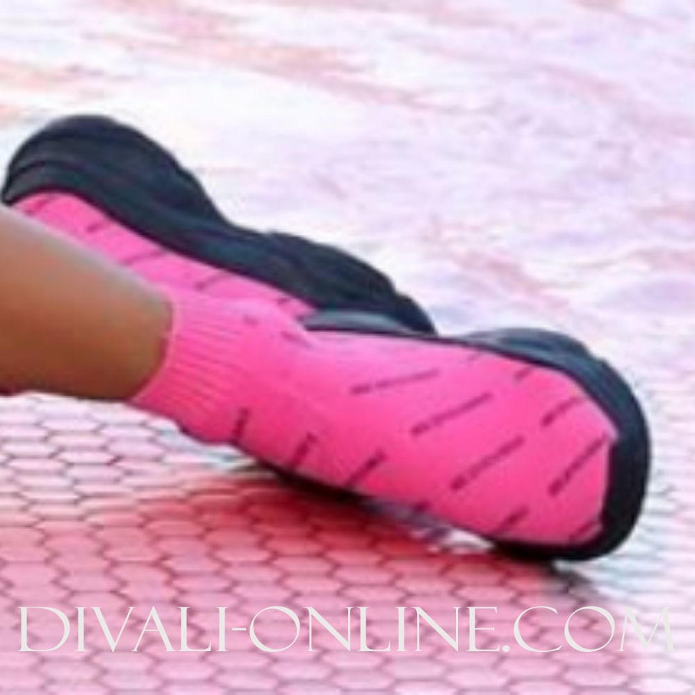 Reinders Shoes All Over Print Pink Neon