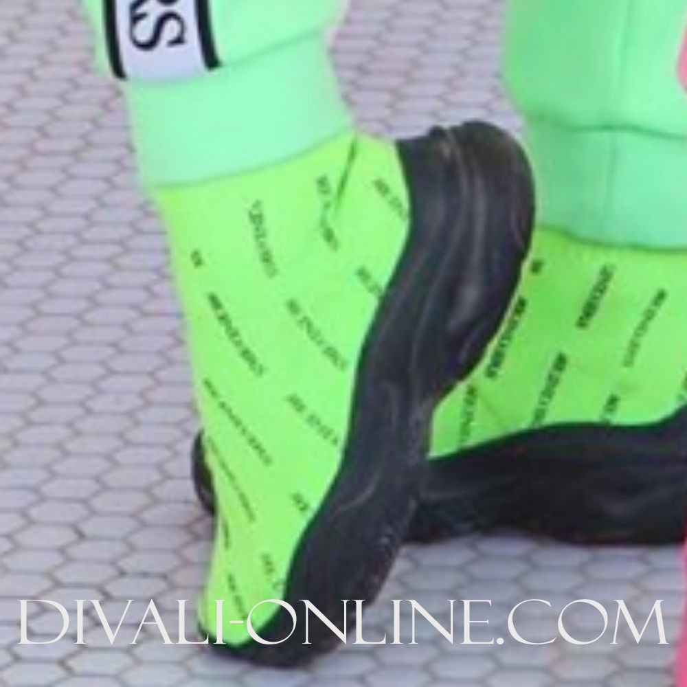 Reinders Shoes All Over Print Neon Green