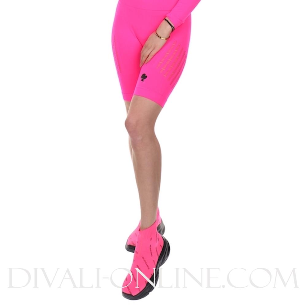 Sport Legging Short Destroyed Pink Neon