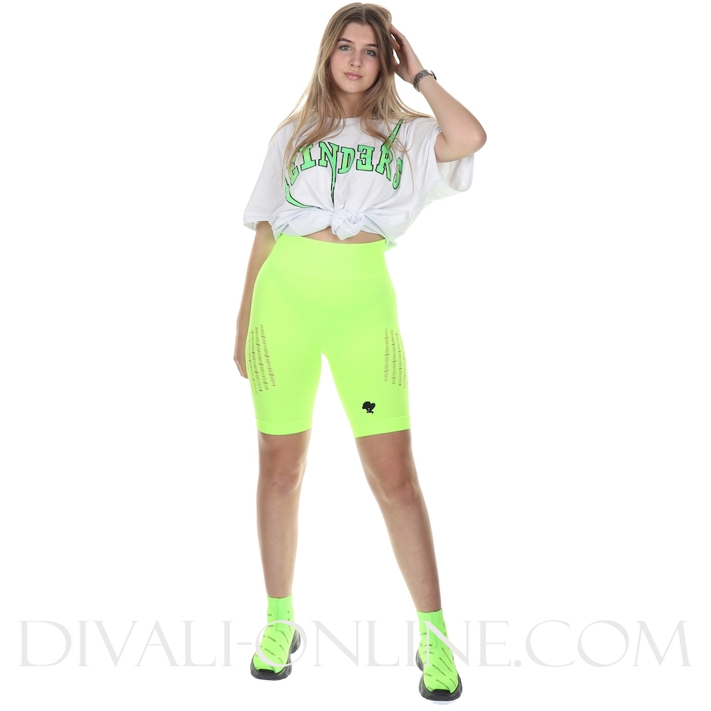 T-shirt Reinders Bolt Oversized White Neon Green