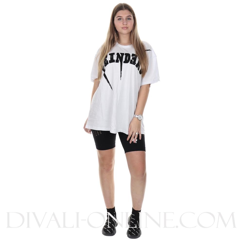 T-shirt Reinders Bolt Oversized White True Black