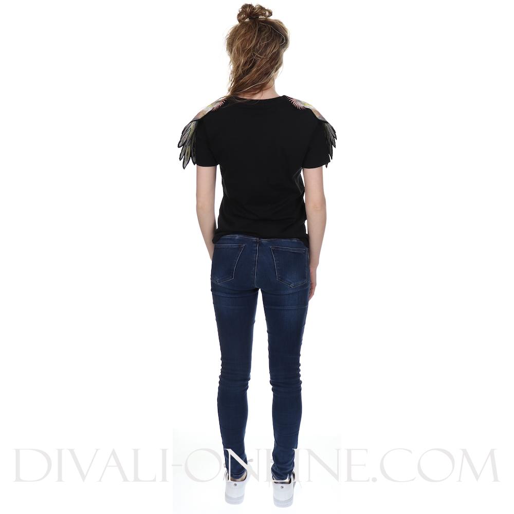 T Shirts Parrot Patcht-shirt Black