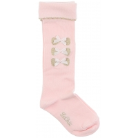 Le Chic Kneesocks With 3 Bows Pretty In Pink