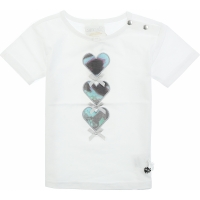 Le Chic T-shirt With Three Hearts White