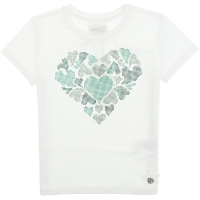 Le Chic T-shirt Big Coloured Heart Green Victory