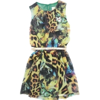 Le Chic Dress Leopard With Belt Green Victory