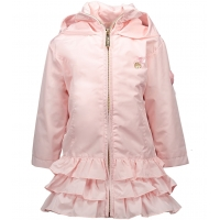 Le Chic Ruffle Coat Plain Pretty In Pink