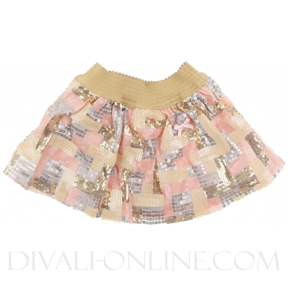 Skirt Square Sequins Pretty In Pink