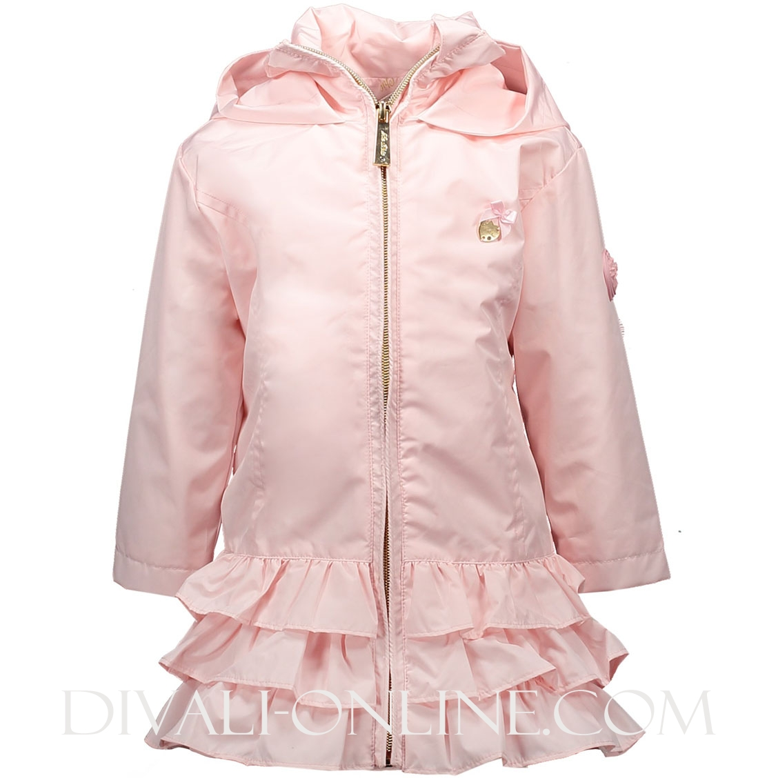 Ruffle Coat Plain Pretty In Pink
