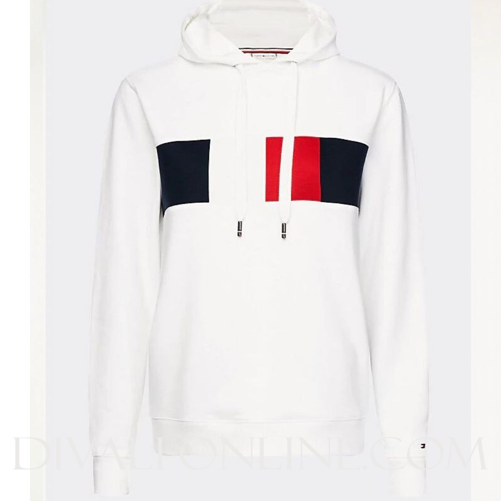 Sweater Colour-Blocking White