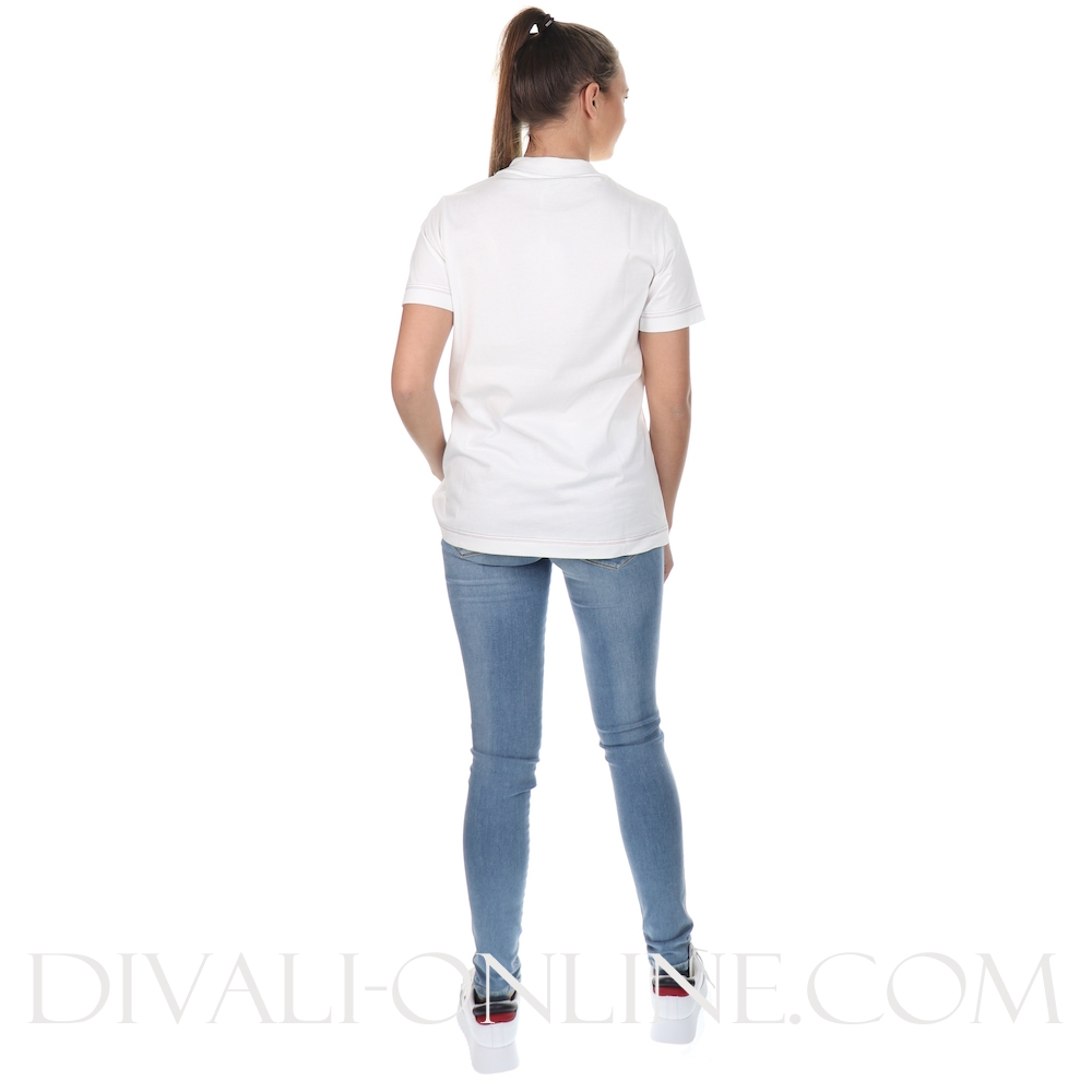 T-shirt Logo Mock White