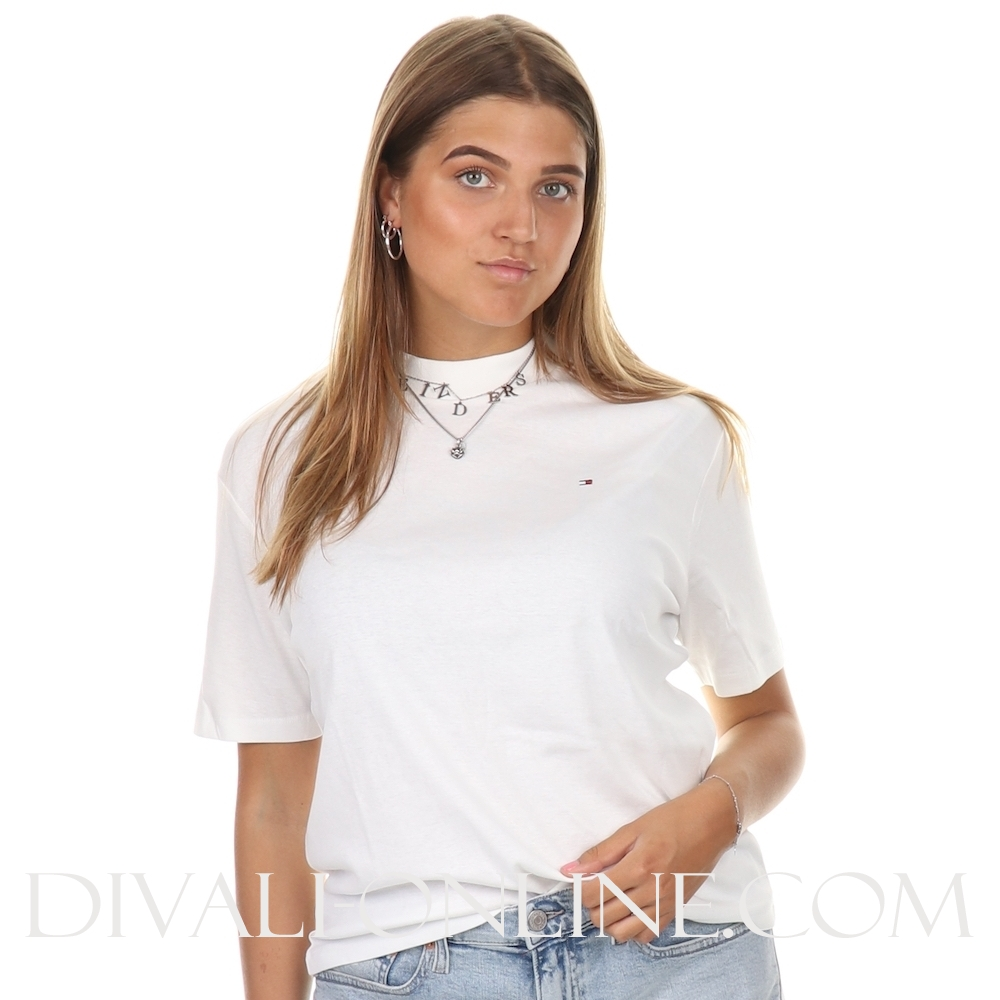 T-Shirt High Neck White
