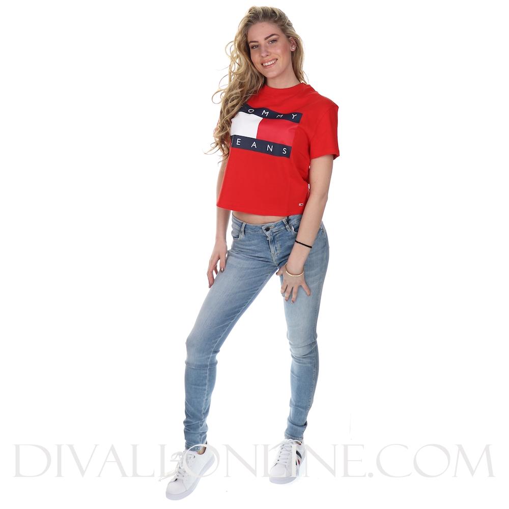 T-shirt Flag Deep Crimson