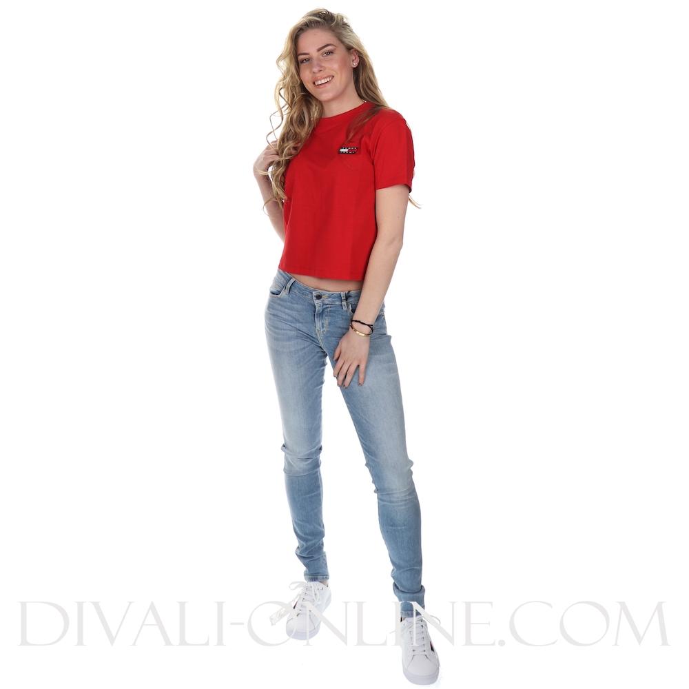 T-shirt Badge Deep Crimson