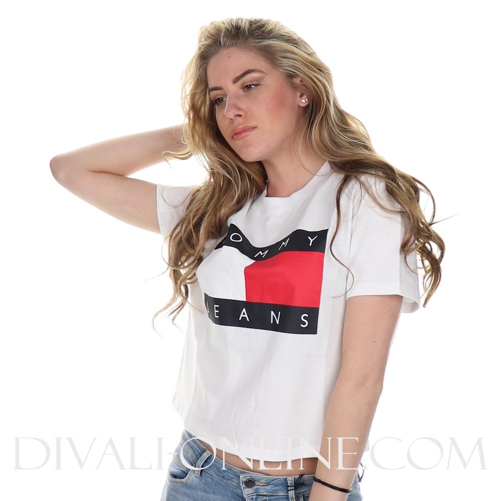 T-shirt Flag Classic White