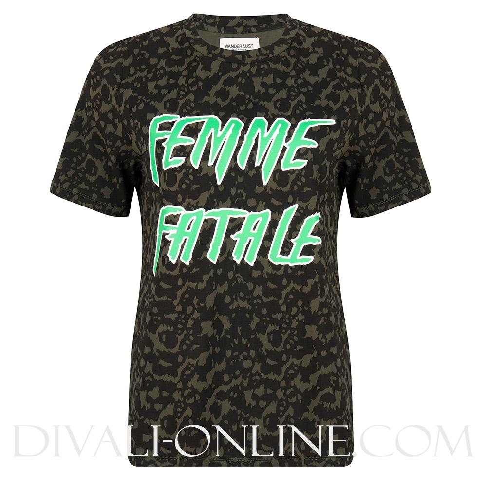 Femme Fatale Tee Cheetah Print
