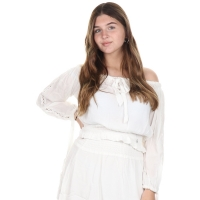 Jacky Luxury Top Off-shoulder White