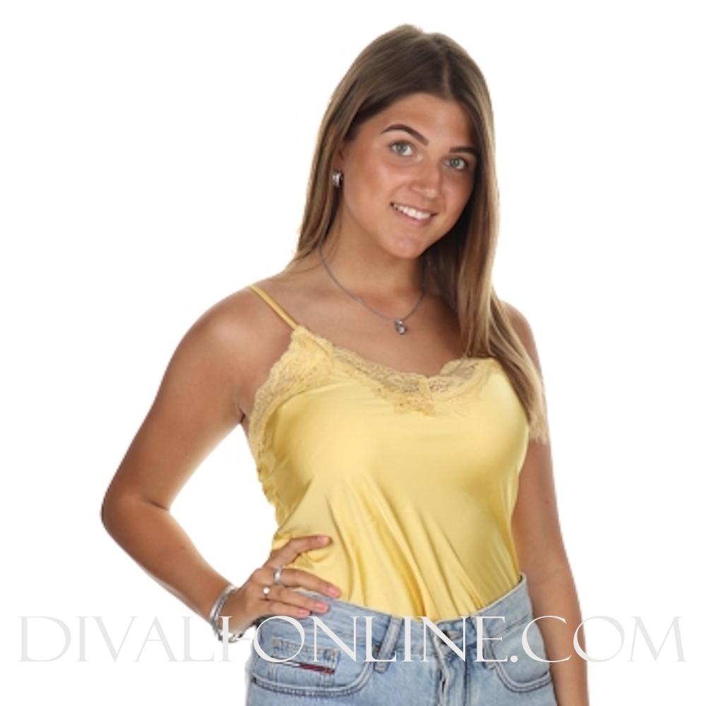 Top Basic Satin Soft Yellow