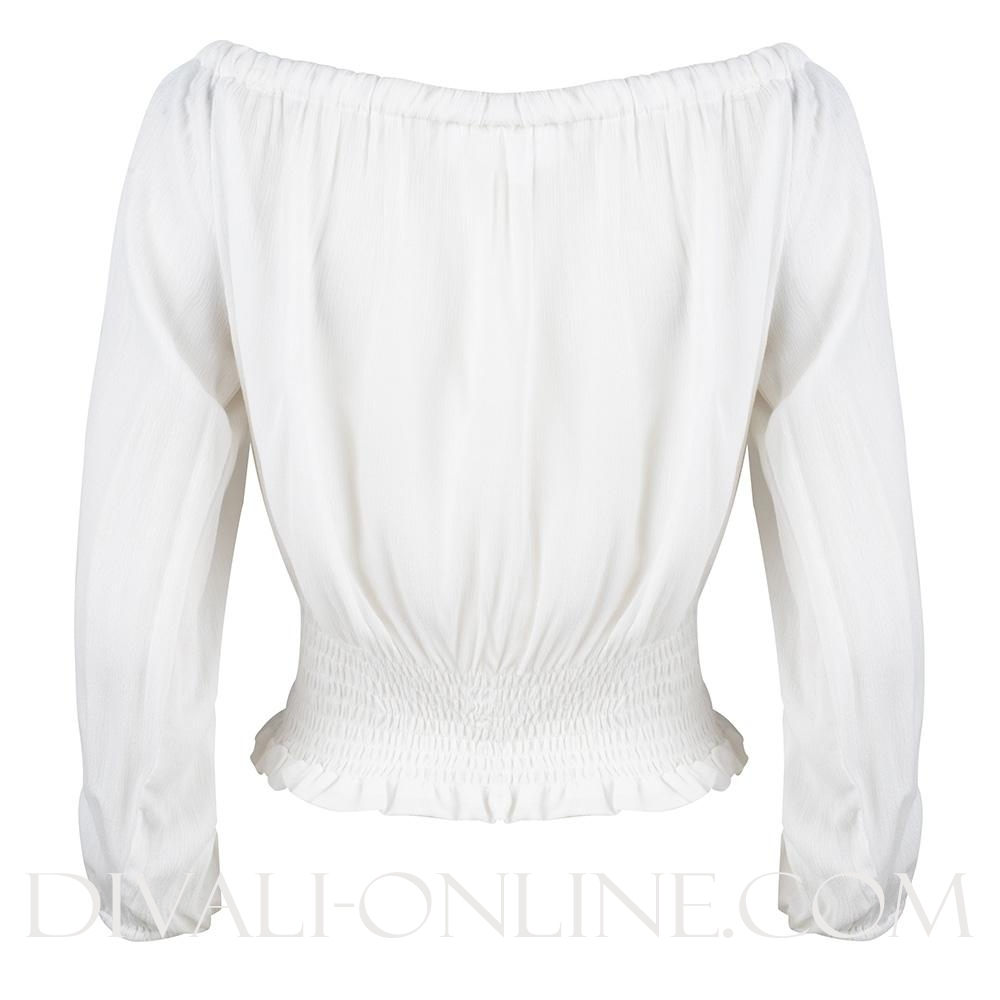 Top Off-shoulder White