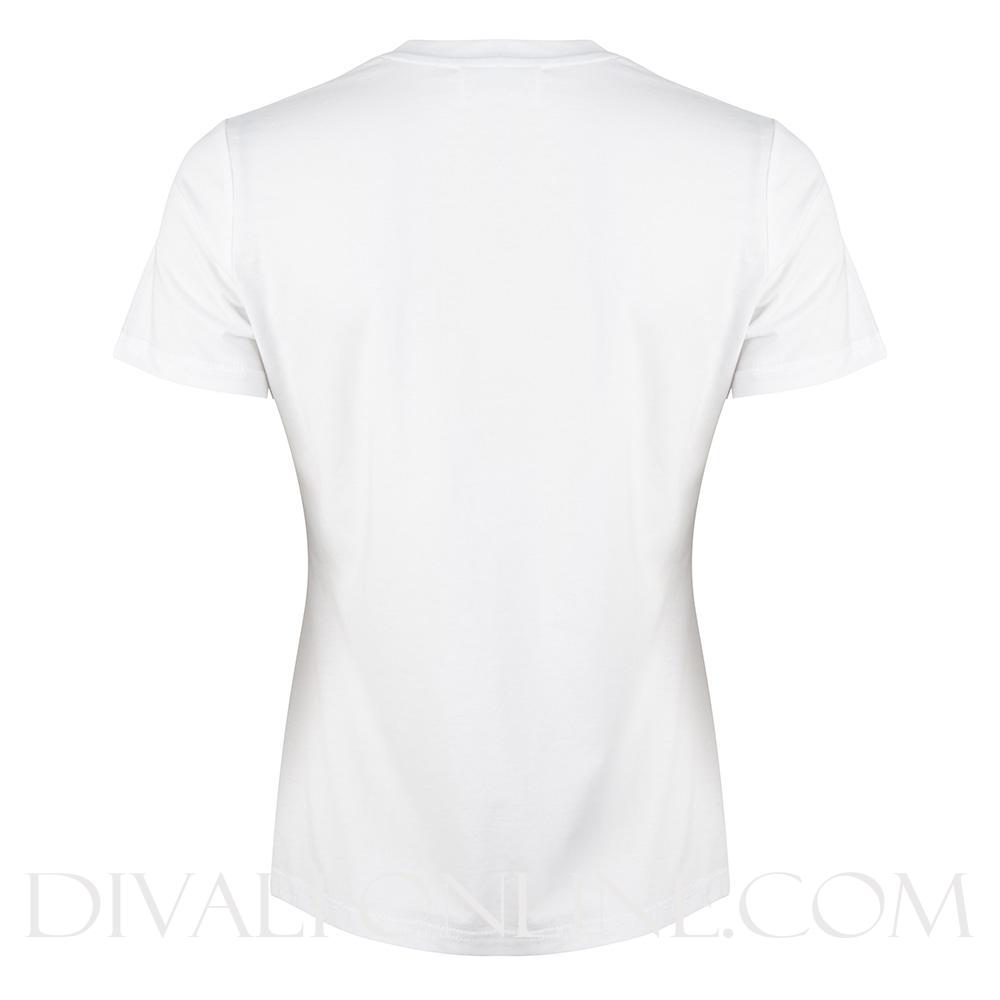 T-shirt White - Geel logo