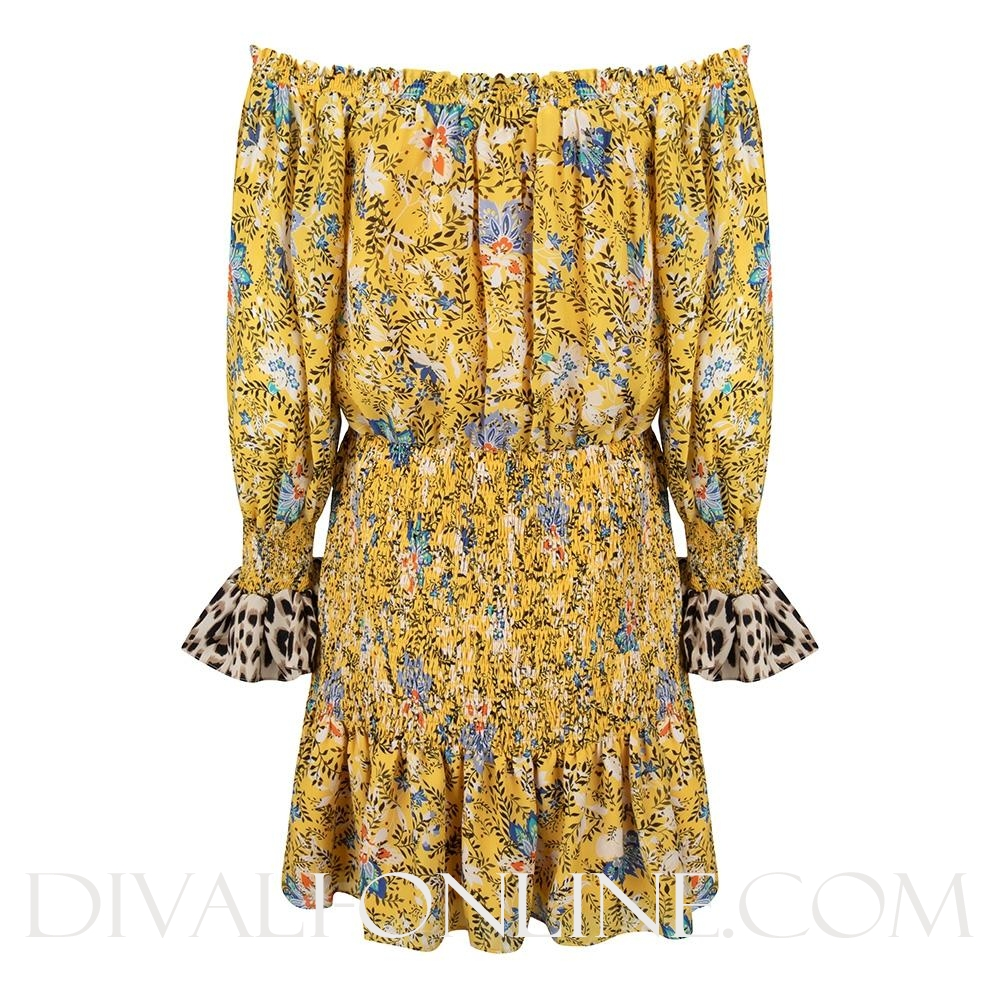 Dress Off-shoulder Flower Print
