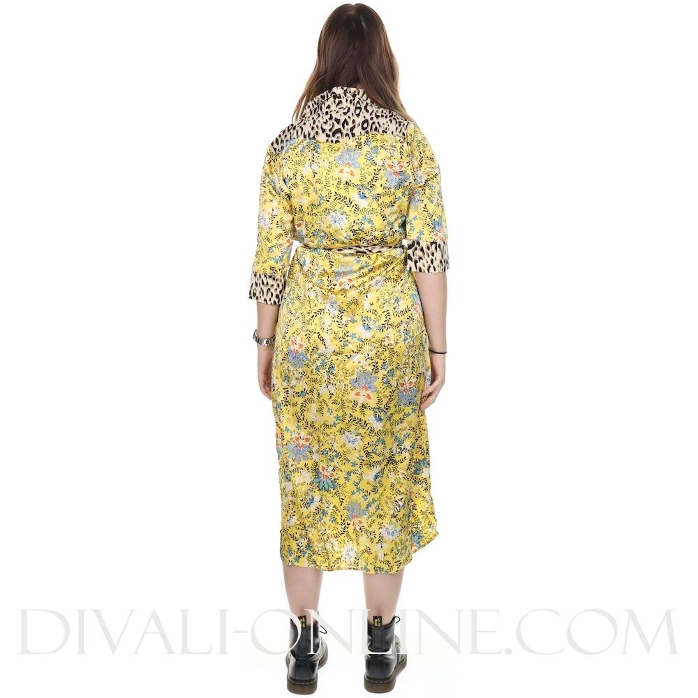 Dress Midi Flower Print
