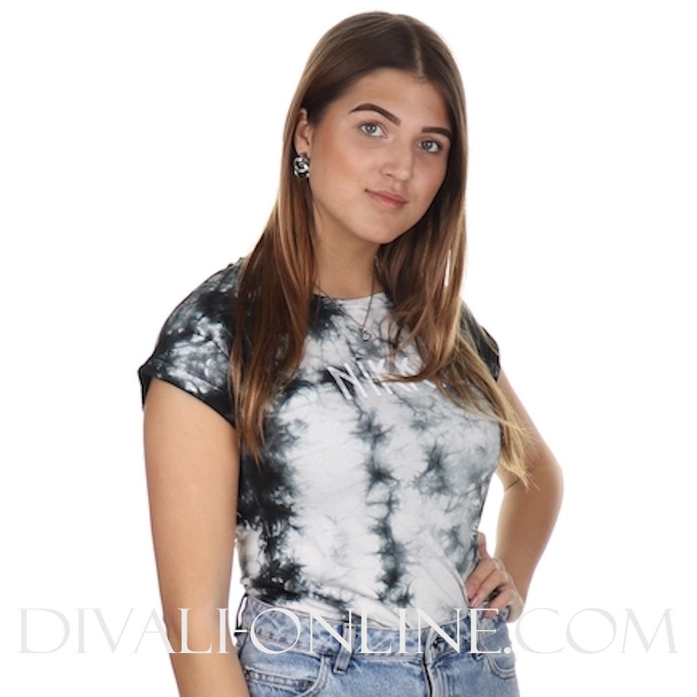 Tie Dye T-Shirt Black/Blanc