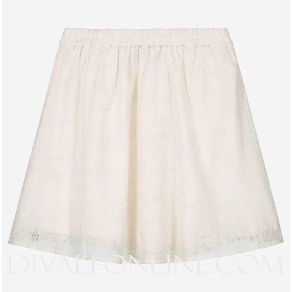 Breanne Cissy Skirt Vintage White