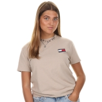 Tommy Jeans Tommy Badge Tee Stone