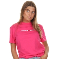 Tommy Jeans Straight Small Tee Cerise Pink