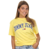 Tommy Jeans Tommy Collegiate Tee Aspen Gold