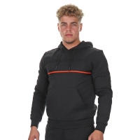 Antony Morato Hoodie Logo 3D Orange Line Black
