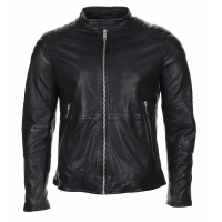 Antony Morato Leather Jacket Black