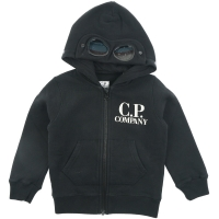 C.P. Company Sweatshirts - Hooded Open Black