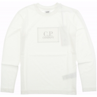 C.P. Company T-shirts - Long Sleeve Gauze White