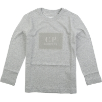 C.P. Company T-shirts Long Sleeve Grey Melange