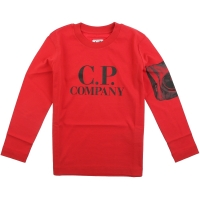 C.P. Company T-shirts Long Sleeve Barbados Cherry