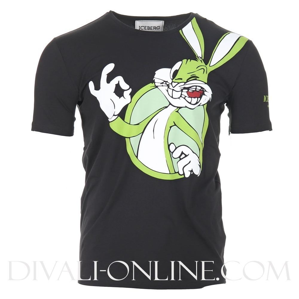 Iceberg T shirt Bugs Bunny Black €120.00