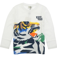 Kenzo Tee Shirt Ventura Jb Optic White