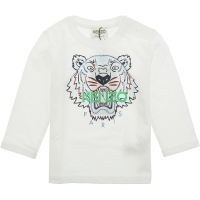Kenzo Tee Shirt Tiger Optic White