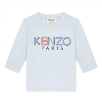 Kenzo Tee Shirt Sport Line Tb Light Blue