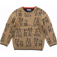 Mayoral Jacquard Print Sweater        Almond