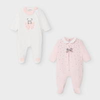 Mayoral 2 Pc Soft Pajama Set Baby Rose