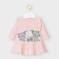 Mayoral Knit Dress Baby Rose