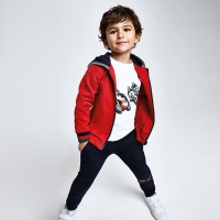 Mayoral 3pc Tracksuit With Hood       Cherry