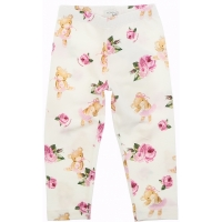 Monnalisa Leggings St.teddy Dancer Panna/cipria