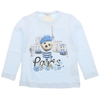 Monnalisa T-shirt Paris Blue