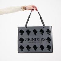 Shopping Bag Small Metal Grey