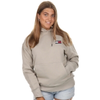 Tommy Jeans Tommy Badge Hoodie Stone