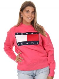 Tommy Jeans Tommy Flag Crew Light Cerise